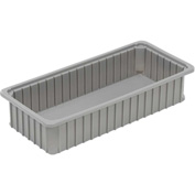 "Dandux Dividable Stackable Plastic Box 50P0224042 -  24""L x 11""W x 4-1/4""H, Gray"
