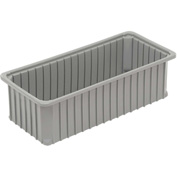 "Dandux Dividable Stackable Plastic Box 50P0224060 -  24""L x 11""W x 6""H, Gray"