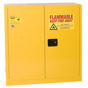 Eagle Flammable Cabinet with Self Close Bi-Fold Double Door 30 Gallon