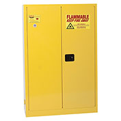 Eagle Flammable Cabinet with Self Close Bi-Fold Double Door 45 Gallon