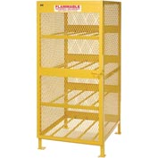 "Global™ Cylinder Storage Cabinet - Horizontal Single Door 8 Cylinders - 33""W x 40""D x 71""H"