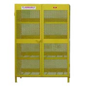 "Global&#8482 Cylinder Storage Cabinet - Horizontal Double Door 16 Cylinders - 64""W x 40""D x 71""H"