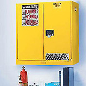Justrite 20 Gallon Flammable Liquid Cabinet Manual 2 Door Vertical Storage