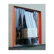 Standard Grade Smooth Clear Strip Door Curtain 6'W x 8'H