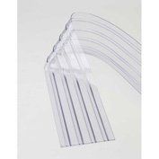 "Replacement 12"" x 9' Scratch Resistant Ribbed Clear Strip for Strip Curtains"