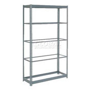 "Heavy Duty Shelving 48""W x 18""D x 96""H With 5 Shelves, No Deck"