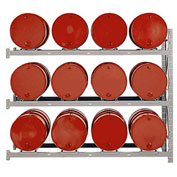 Modern Equipment MECO DPR12A 3 Tier Drum Pallet Rack Add-On Unit