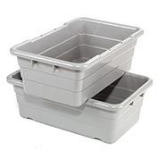 Cross Stack Nest Tote Tub TUB2516-8 -  25-1/8 x 16 x 8-1/2 Gray - Pkg Qty 6