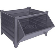 "Topper Stackable Steel Container 51017HF Solid, Hopper Front, 35""L x 30""W x 24""H, Unpainted"