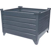 "Topper Stackable Steel Container 51010 Solid, 48""L x 42""W x 24""H, Unpainted"