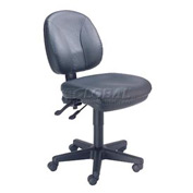 Multifunctional Task Chair - Leather - Black