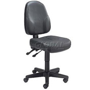 Multifunction Office Chair - Leather - Black