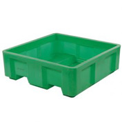 "Dandux Forkliftable Single Wall Skid Bulk Container 512167E - 36"" x 19-1/2"" x 23-1/2"", Green"