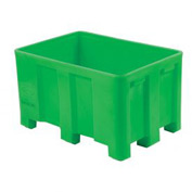 "Dandux Forkliftable Double Wall Skid Bulk Container 512110E - 36"" x 26"" x 16-1/2"", Green"