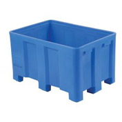 "Dandux Forkliftable Double Wall Skid Bulk Container 512120U - 36"" x 26"" x 22"", Blue"