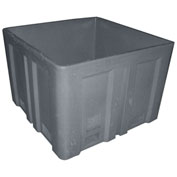 """Dandux Forkliftable Double Wall Skid Bulk Container 51-2118GY - 44"""" x 44"""" x 31-1/2"""", Gray"""