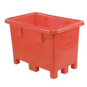 "Dandux Pallet Container 51-2026R - 43""L x 28""W x 29""H Single Wall, Red"