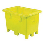 "Dandux Pallet Container 51080716Y - 42""L x 29""W x 31'H Single Wall, Yellow"