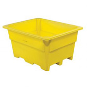 "Dandux Pallet Container 51-2030Y - 52""L x 42""W x 30""H Single Wall, Yellow"