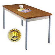 "Allied Plastics Utility Table - 20""W X 40""L - Walnut"