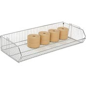 "Stackable Wire Storage Bin, 48""W x 20""D x 9""H"