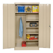 Tennsco Combination Metal Storage Cabinet 1472 214 - 36x18x72 Sand