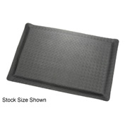 "Diamond Plate Ergonomic Mat 15/16"" Thick 24"" Wide Full 75Ft Roll Black"