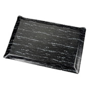 Marbleized Top Ergonomic Mat 3 Foot Wide Cut Black