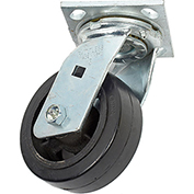 "Faultless Swivel Plate Caster 1418-5 5"" Mold-On Rubber Wheel"