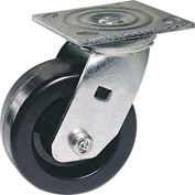 "Faultless Swivel Plate Caster 1461-5RB 5"" Polyolefin Wheel with Brake"