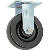 "Faultless Rigid Plate Caster 3461-6 6"" Polyolefin Wheel"
