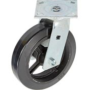 "Faultless Swivel Plate Caster 1418-8 8"" Mold-On Rubber Wheel"