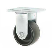 "Faultless Rigid Plate Caster 3461-8 8"" Polyolefin Wheel"