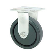 "Faultless Rigid Plate Caster 3498-6 6"" Polyurethane Wheel"