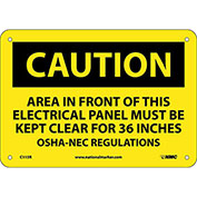 "Safety Signs - Caution Area - Rigid Plastic 7""H X 10""W"