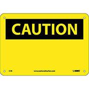 "Safety Signs - Caution Blank - Rigid Plastic 7""H X 10""W"