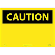 """Safety Signs - Caution Blank - Vinyl 10""""H X 14""""W"""