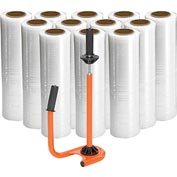 "Stretch Wrap 18"" x 1500' x 80 Gauge With Half Price Dispenser"