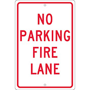 Aluminum Sign - No Parking Fire Lane - .063mm Thick