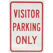 Aluminum Sign - Visitor Parking Only - .063mm Thick