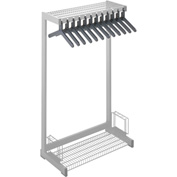 "24""W Floor Rack With 8 Hangers - Gray"