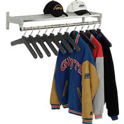 Garment Wall Rack Includes 12 Hangers
