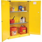 Justrite Flammable Cabinet With Self Close Double Door 45 Gallon