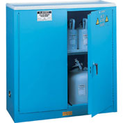 Acid Corrosive Cabinet With Manual Close Double Door 30 Gallon