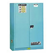 Justrite Acid Corrosive 45 Gallon Cabinet Manual 2 Door Vertical Storage
