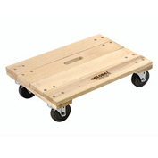 Hardwood Dolly with Solid Deck 24 x 16 1200 Lb. Capacity