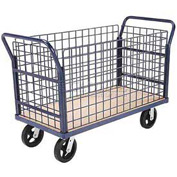 Euro Truck With 4 Wire Sides & Wood Deck 48 x 24 2400 Lb. Capacity