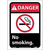 "Graphic Signs - Danger No Smoking - Vinyl 7""W X 10""H"