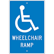 Aluminum Sign Wheelchair Ramp .063mm Thick