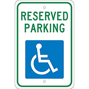 Aluminum Sign - Reserved Parking Handicapped Logo - .08mm Thick